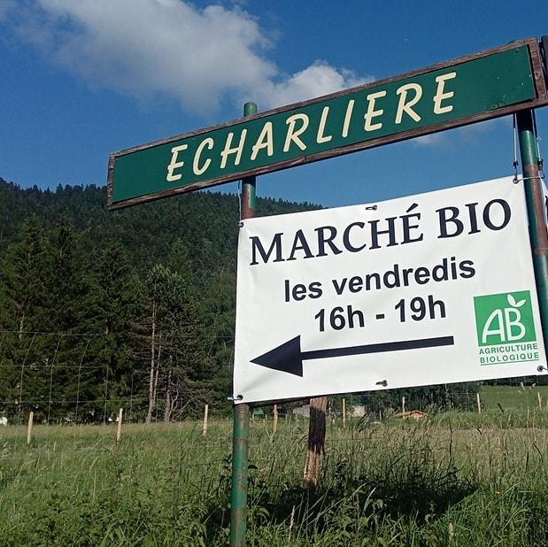 Marché bio de l'Echarlière - les vendredis, de 16h à 19h