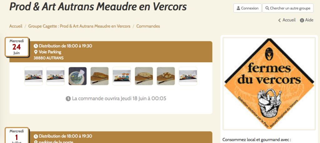 Commandes en ligne producteurs et artisans du Vercors