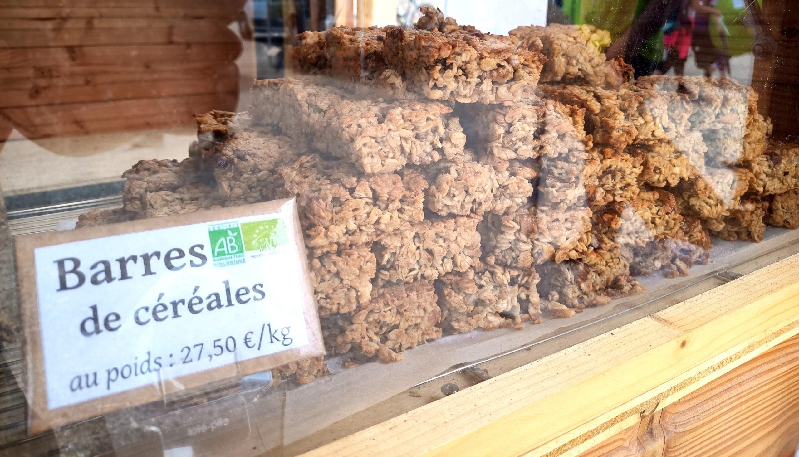 barres de céréales vendues au poids